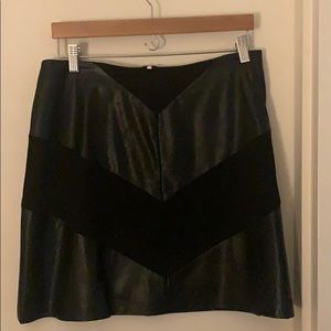 Vince Camuto chevron faux leather skirt